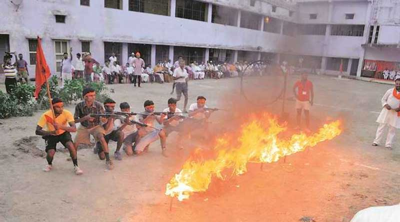 Bajrang Dal organises arms training inside school, create controversy
