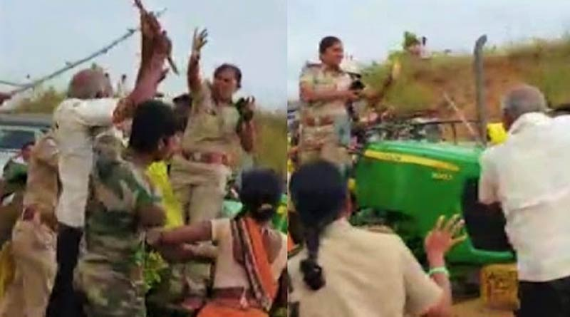 A police team & forest guards were attacked allegedly by TRS