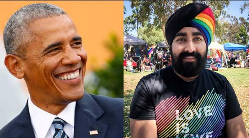 Sikh man's rainbow turban impresses Barack Obama