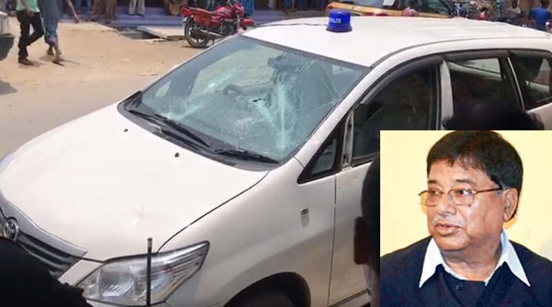TMC MLA Udayan Guha's car allegedly vandalised in Dinhata by BJP