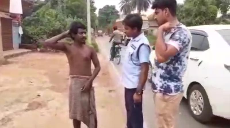 Civic volunteer rescue a mentally unstable man in Chandrakona area