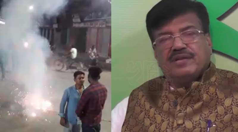 TMC workers celebrates the removal Of Rabindranath Ghosh