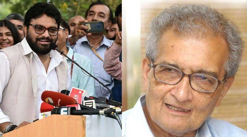 It's Sir's Amartya Sen age speaking not his mind, said Babul Supriyo
