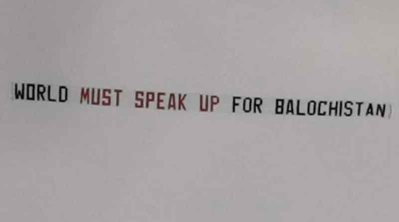 Now 'Balochistan banner' flies during cricket world cup semifinal