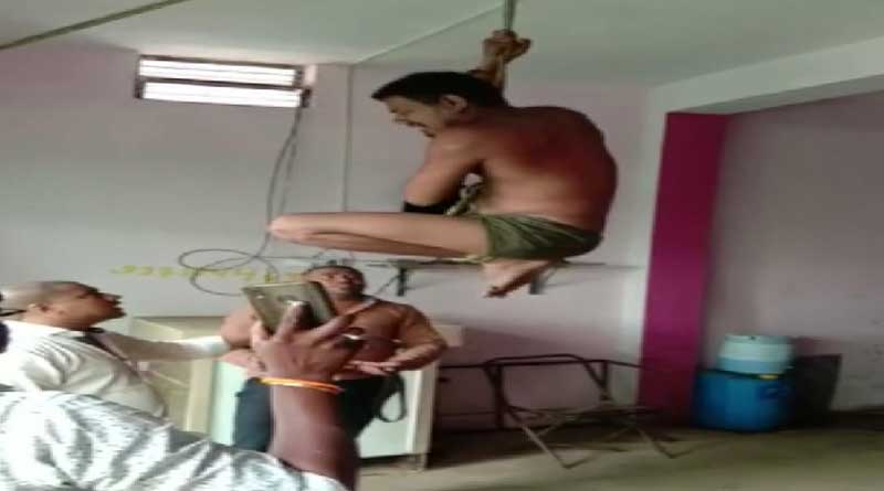 Transporter hangs driver upside down, inserts rod in private parts