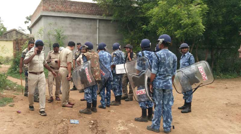 Bombs recovered during anti arms drive by Police in Birbhum