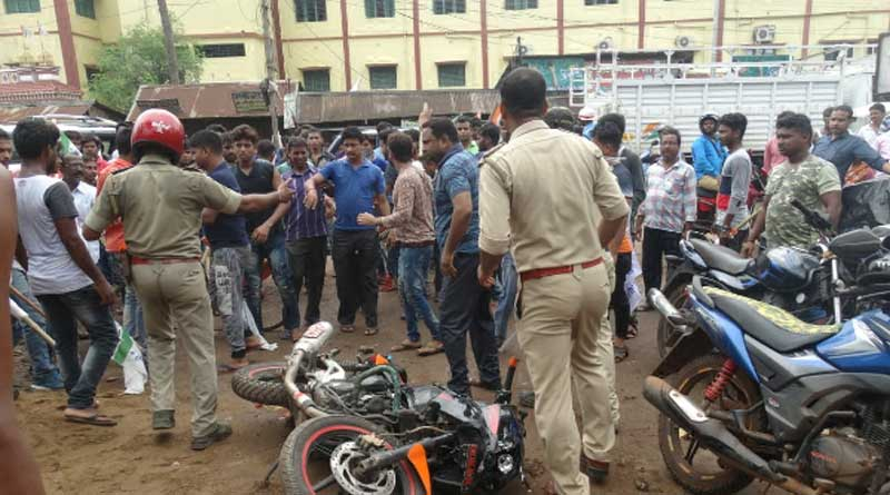 Clash erupts betwween TMCP and ABVP in Ghatal College
