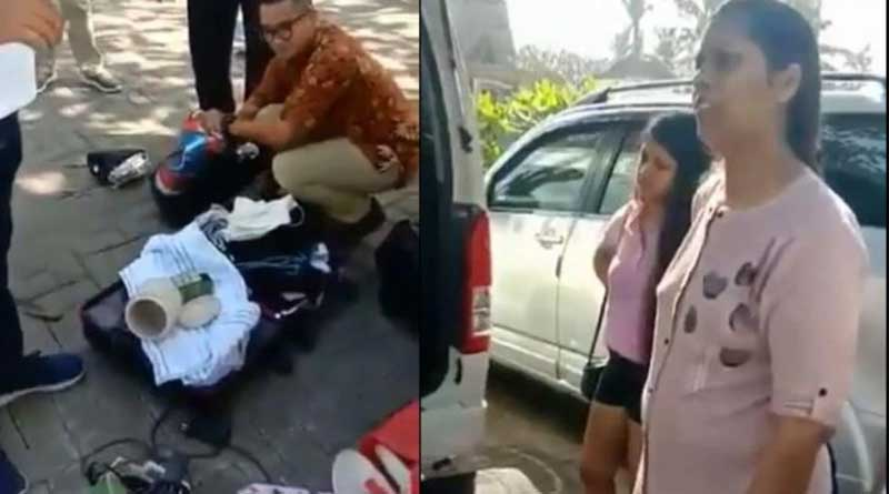 Indian family caught on hand for stealing stuffs from hotel in Bali