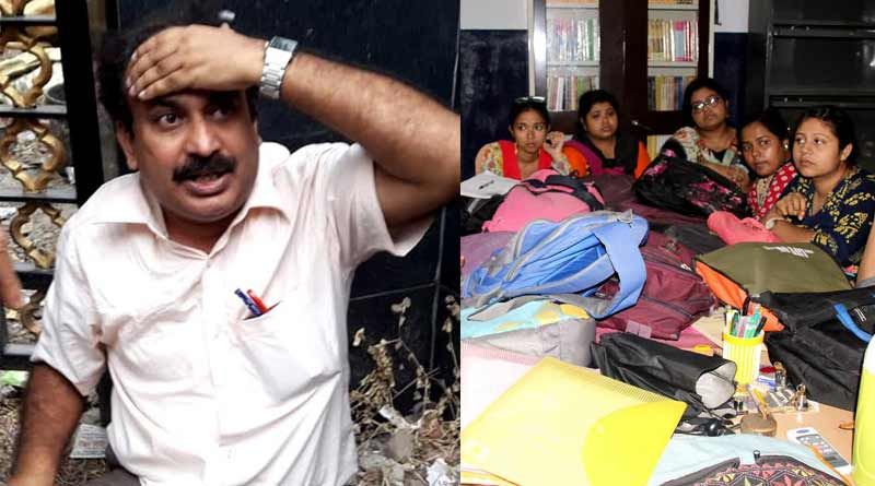Professor beaten by the agitating students at a college in Konnagar