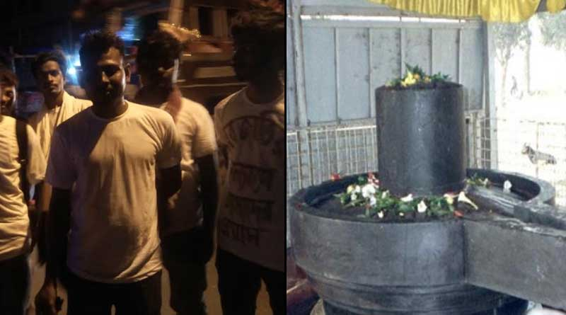 Muslim youths offer water to Lord Shiva of Bardhamaneshwar