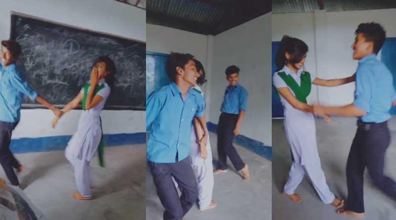 Students make Tiktak video in Classroom at Alipurduar School