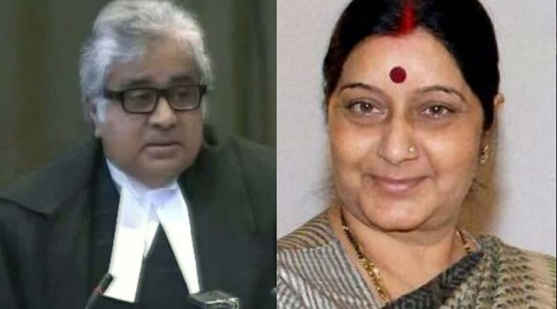 Come and collect your Re 1 fee tomorrow: Sushma Swaraj to Harish Salve