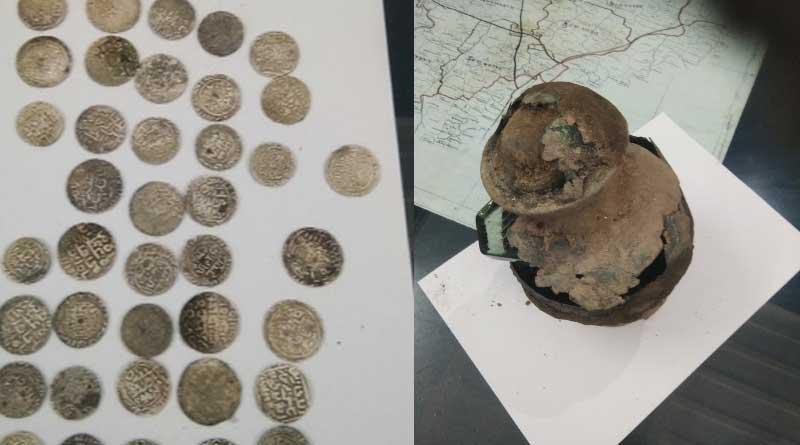 Hidden treasure recovered from Kushmandi area in South dinajpur.