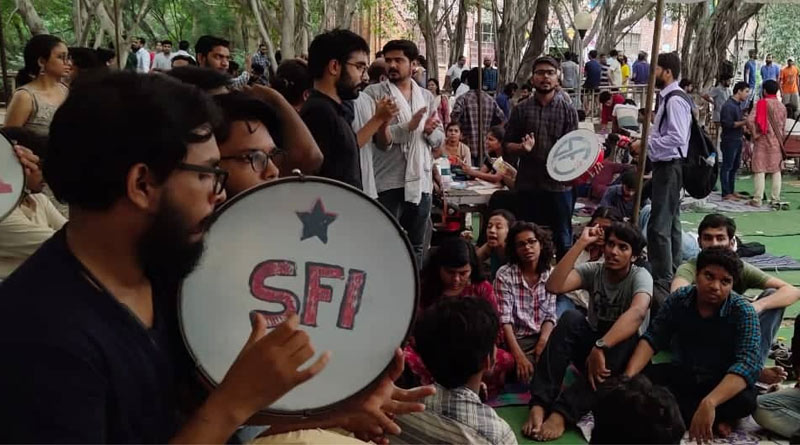 Left students union leads with huge votes at JNU election