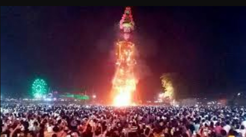 World's tallest effigy of Ravana to be burnt on Dussehra this year in chandigarh