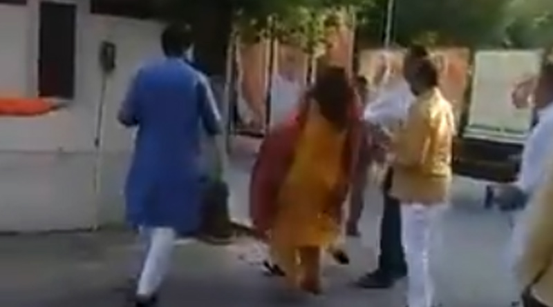 Delhi BJP Leader Slaps Wife