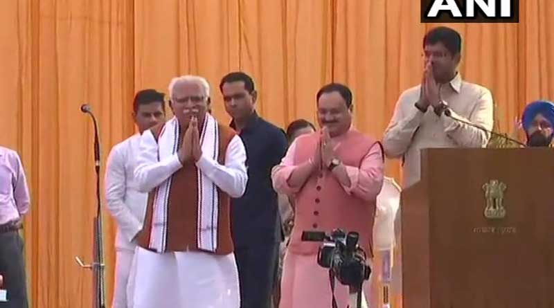 Manohar Lal Khattar takes oath as the Chief Minister of Haryana