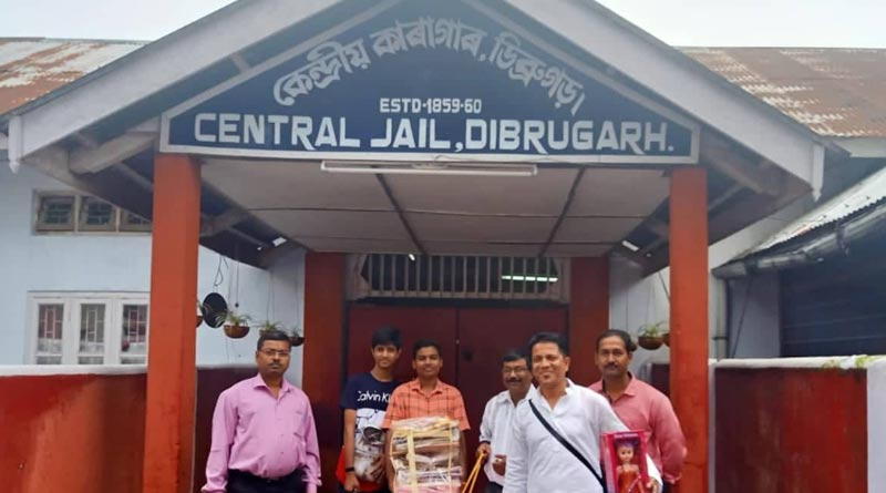 All Assam Students Federation distributes clothes to the people at detention camps