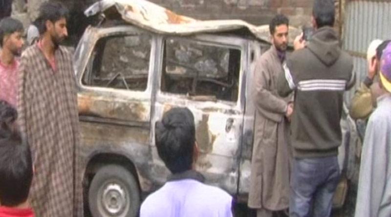 BJP leader's van among two vehicles set ablaze by terrorists in Kulgam