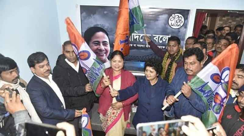 In protest of CAA a leader left BJP and join TMC at Balurghat.