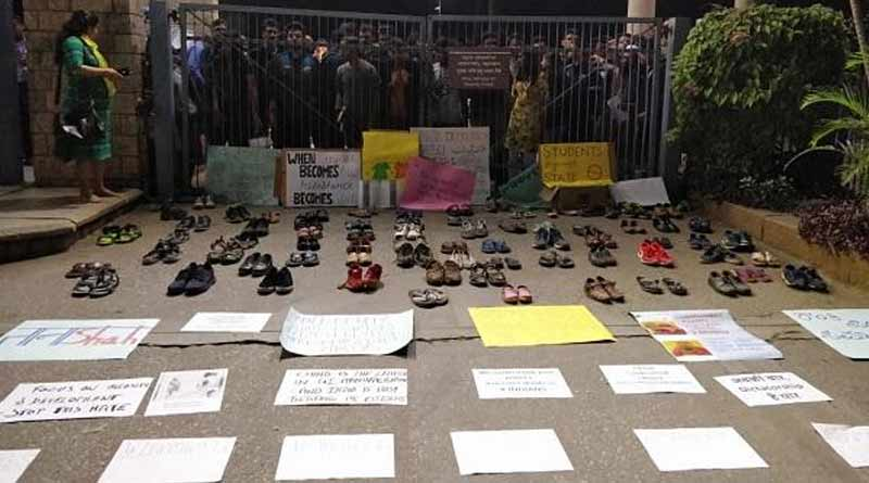 A group of students in IIM, Bangalore gathered 'non-protest' on CAA issue