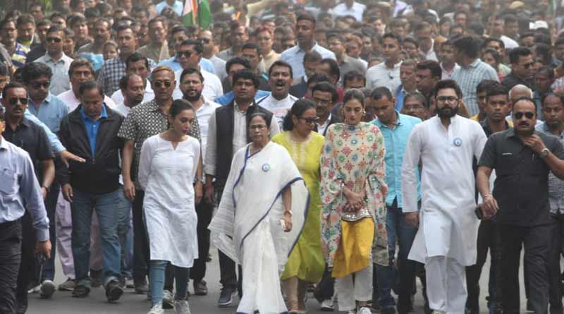 Chief minister Mamata Banerjee to hit road show on International Women's Day|SangbadPratidin