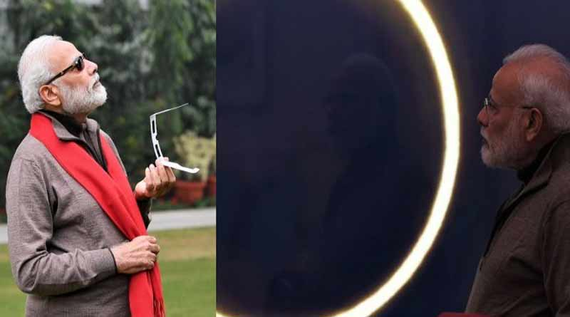 PM Modi regrets for not seeing solar eclipse even with specs worth 1.5lakh