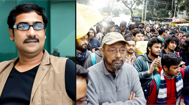 Tollywood celebs Kaushik Sen, Anjan Dutt attends JNU protest march