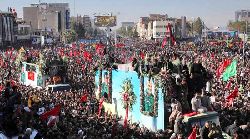 Dozens killed in stampede at Soleimani funeral in Kerman