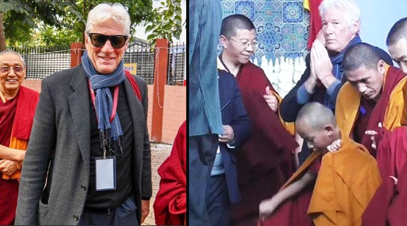 Richard Gere attending session of the Dalai Lama in Bodh Gaya