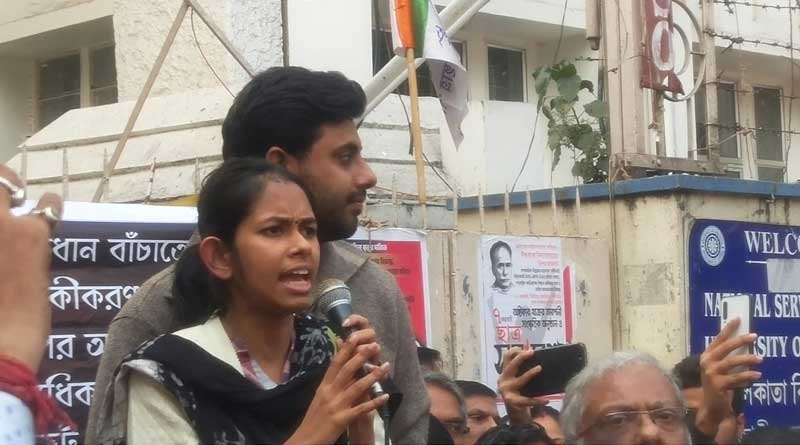 Aishi Ghosh could get into CU campus for students protest