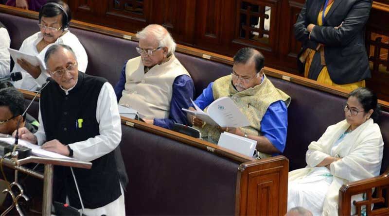 Amit Mitra ended his budget speech by reciting a few lines from a poem