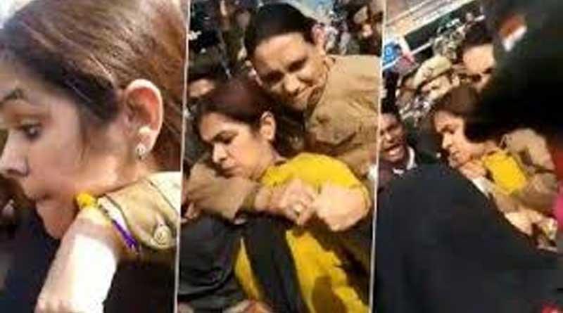 Commotion in Shaheen Bagh as Burqa-clad woman raises suspicion.