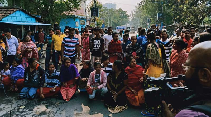 Tangra accident case: locals protest against police by blocking the road