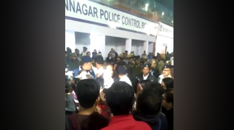 CAA protester allegedly attack lady police officer in Bidhannagar thana