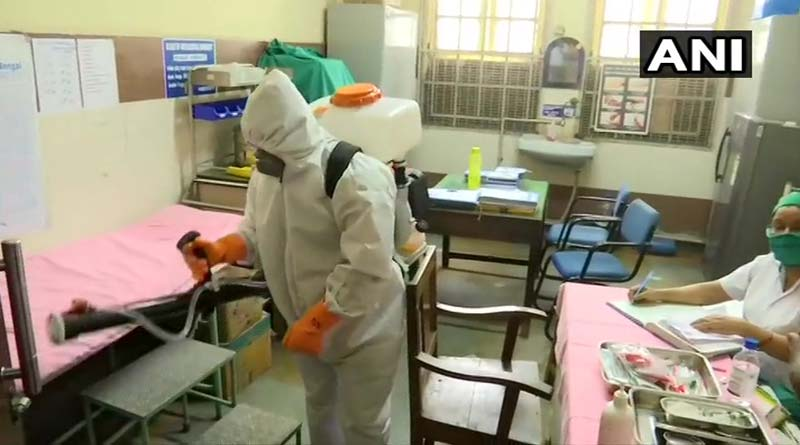 Hospitals in Kolkata are being disinfected by KMC amid Corona outbreak