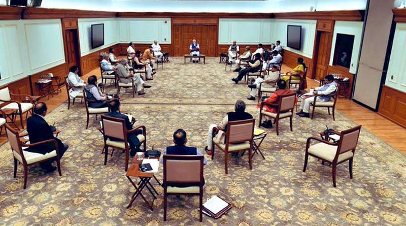 Social Distancing demo at PM's Cabinet meet as Lockdown begins