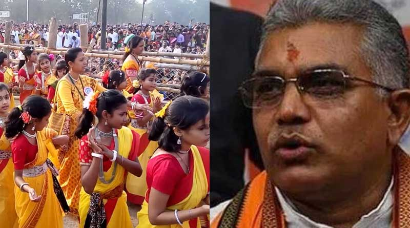 BJP State president Dilip Ghosh mourns as Vishwabharati cancels Dol