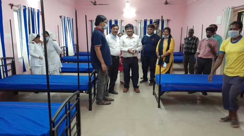 A british engineer comes for work is in isolation at Purulia hospital