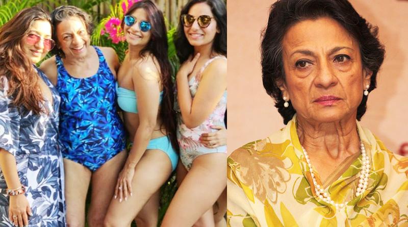 Veteran Bollywood actress Tanuja Mukherjee wears bikini