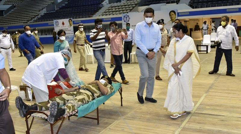 Kolkata Police organised Blood Donation camp despite Lock Down