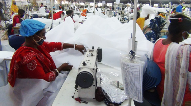 150 women from Sonarpur making five thousands PPE regularly