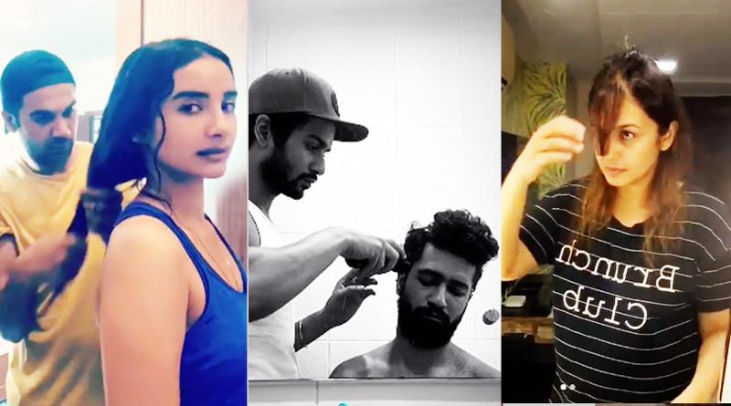 Bollywood celebreties haircut during quarantine period