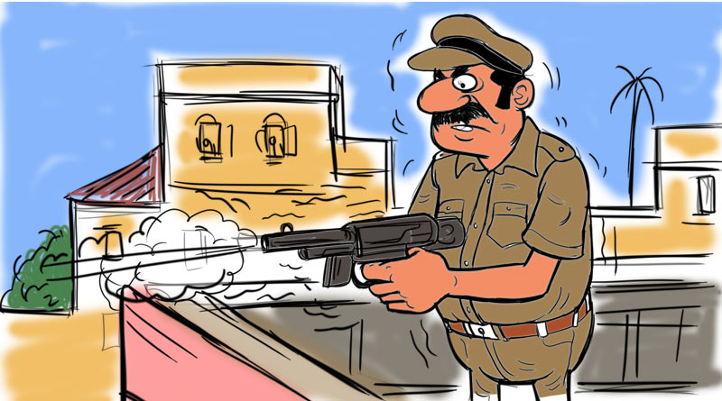 Junior Police constable fires shots at Jhargram residential complex