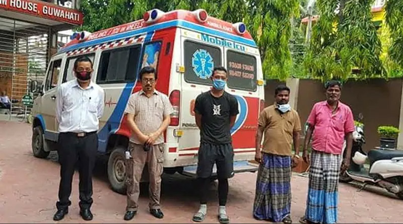 Tami Nadu ambulance driver bring caffine to Mijoram
