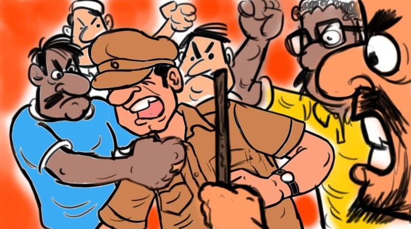 Singur: Clash erupts between Police and Mob over Corona rumour