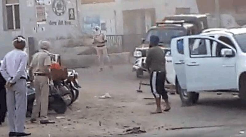 Punjab police injured in patiyala sabji mandi amid Lockdown