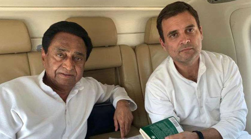 BJP asks farmer to lodge a case aginst kamalnath and rahul gandhi