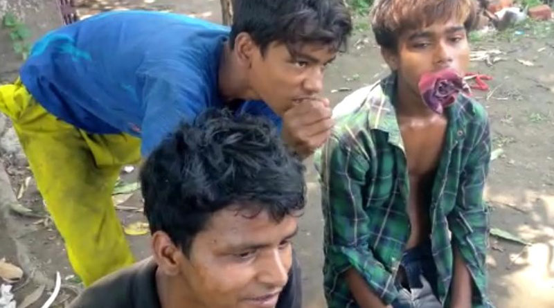 Breaking: Teenagers around Asansol rail station are getting drug addicted again during lockdown