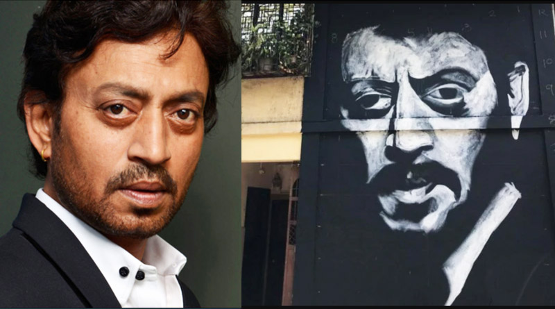 A huge mural in Mumbai's Bandra for the late actor Irrfan Khan